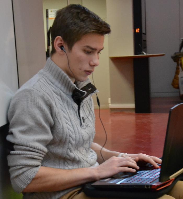 Lucas, étudiant en 1re année d'Humanités